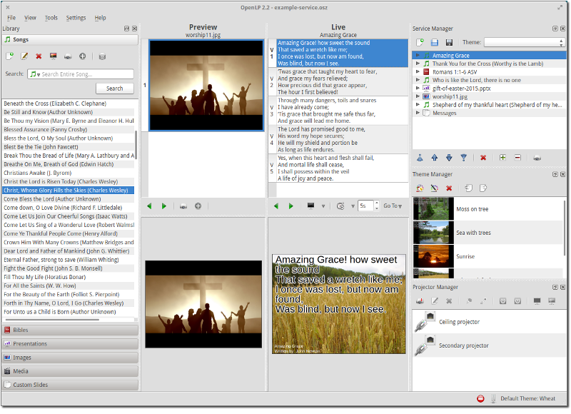 Free Open Source Church Worship Presentation Software Openlp